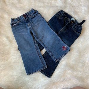 Two 24 month jeans Oshkosh & Children's place -1D